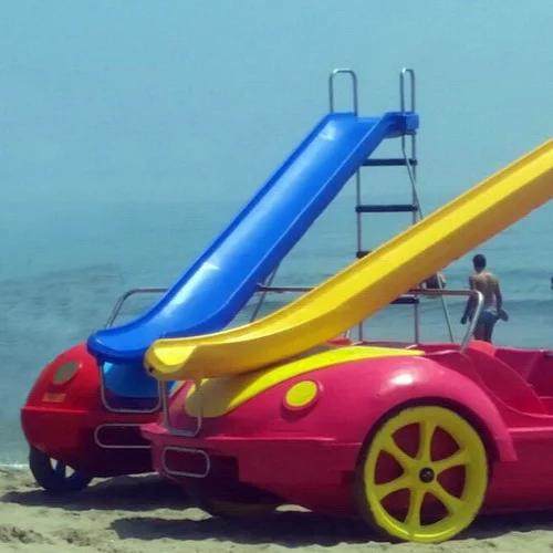 Pedal boat with slide